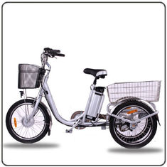 Cina CE Menyetujui 36V 250W White Electric Tricycles Lithium Battery 3 Wheel Electric Bike pabrik