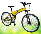 Cina Mountain Electric Bike Dengan Shimano Derailleur, Battery Powered Mountain Bike pabrik