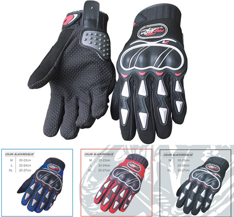 Microfiber Leather Motorcycle Riding Gloves Grey Insulated Motorcycle Gloves