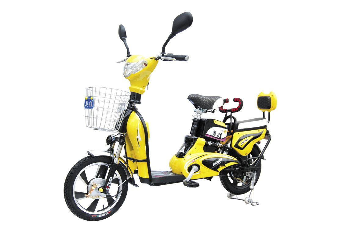 350W 6 T Adult Electric Bike with Pedals / Intelligent Electric Powered Bicycle
