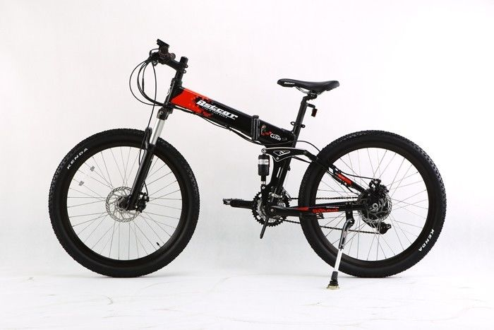 AOWA Electric Motorized Bicycles Safety Electric Folding Bikes With 26''-1.95 Tire